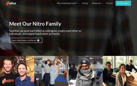 Screenshot of Team Page gonitro.com - Team | Nitro - captured May 15, 2019