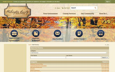 Screenshot of Contact Page Hours Page washingtoncountyny.gov - Washington County, NY - Official Website - captured Nov. 3, 2018