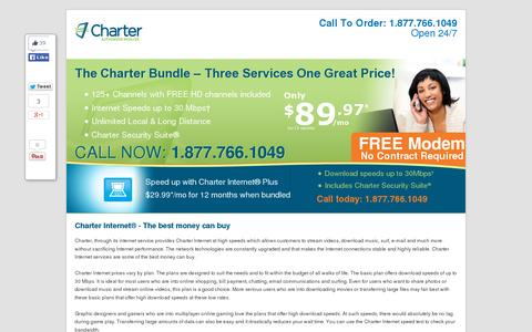 Screenshot of Home Page pelikon.com - Charter Internet - 877-766-1049 Best Charter Internet Prices - captured July 12, 2014