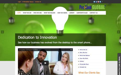 Screenshot of Home Page pro-linkglobal.com - Pro-Link GLOBAL | Corporate Global Visa & Immigration Services - captured Dec. 12, 2015