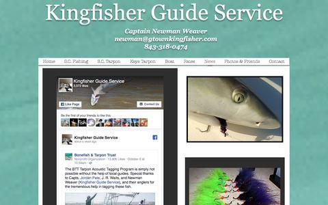 Screenshot of Press Page gtownkingfisher.com - Kingfisher Guide Service, Georgetown SC & Florida Keys | News - captured Oct. 17, 2017