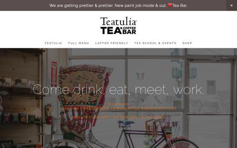 Screenshot of Home Page teabardenver.com - Teatulia Tea Bar - captured Oct. 18, 2018