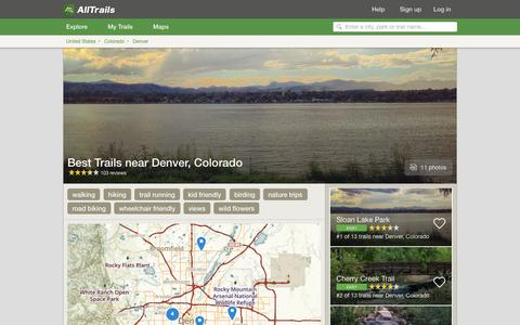 Screenshot of alltrails.com - Best Trails near Denver, Colorado  | AllTrails.com - captured Sept. 21, 2016