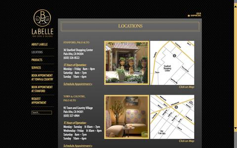 Screenshot of Locations Page labelledayspas.com - Locations - captured Oct. 1, 2014