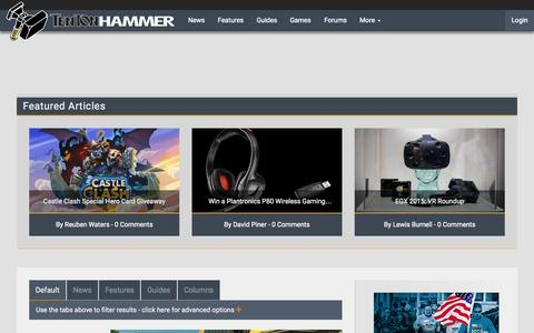 Screenshot of Home Page tentonhammer.com - Ten Ton Hammer | MMO news, guides, interviews, videos and more - captured Oct. 2, 2015