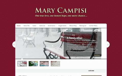 Screenshot of Home Page marycampisi.com - Mary Campisi - Romance Author - captured Sept. 30, 2014