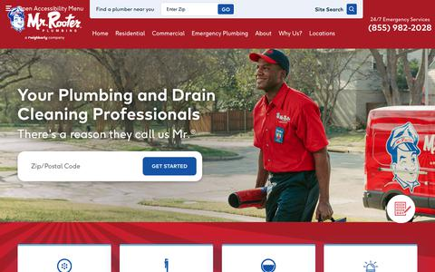 Screenshot of Home Page mrrooter.com - Mr. Rooter Plumbing | Plumbing & Drain Company - captured May 20, 2019