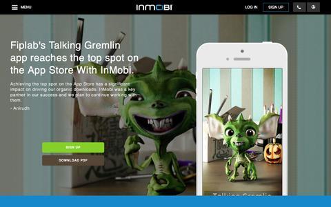 Screenshot of Developers Page inmobi.com - Increase Downloads   Mobile Advertising   Analytics   InMobi - captured Oct. 10, 2014
