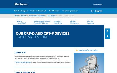 Our CRT-Ds and CRT-Ps - Heart Failure   Medtronic