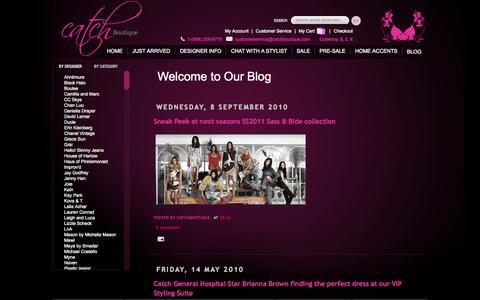 Screenshot of Blog catchboutique.com - Catch Boutique | Blog Catch Boutique - captured Sept. 29, 2014