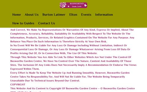 Screenshot of Terms Page bosworthsgc.co.uk - Bosworth's Garden Centre |   Terms - captured Oct. 6, 2018