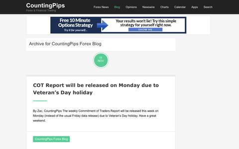 Screenshot of Blog countingpips.com - CountingPips Forex Blog :: CountingPips - captured Nov. 12, 2016
