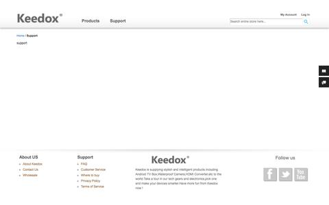 Screenshot of Support Page keedox.com - Support - captured Oct. 6, 2014