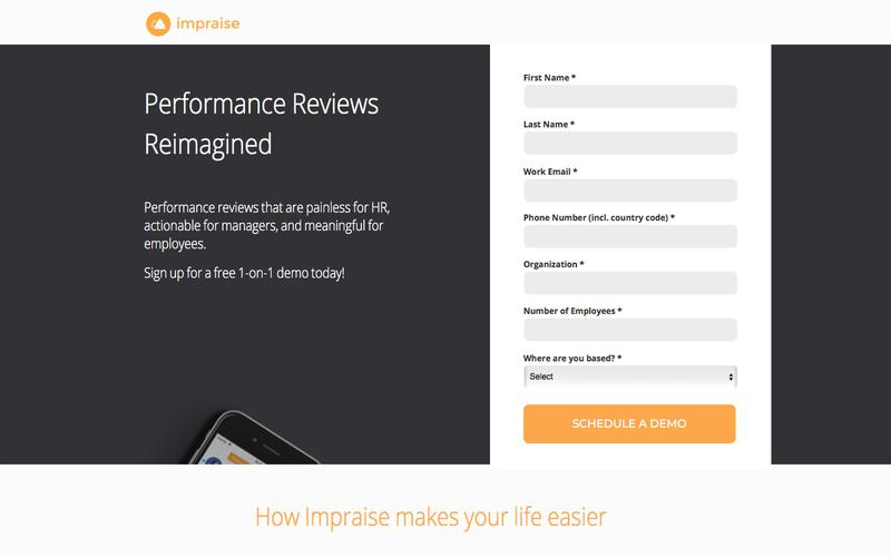 Impraise Performance Review Demo Request