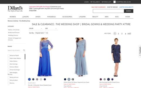Sale & Clearance The Wedding Shop | Bridal Gowns & Wedding Party Attire | Dillards