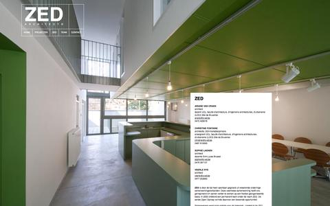 Screenshot of Team Page z-ed.be - Team - ZED Architects - captured Aug. 13, 2015