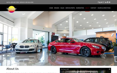 Screenshot of About Page sbautogroup.com - Santa Barbara Auto GroupAbout Us | Santa Barbara Auto Group - captured Feb. 4, 2016