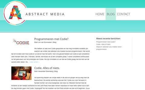 Screenshot of Blog abstractmedia.nl - Blog | Abstract Media - captured Oct. 4, 2014