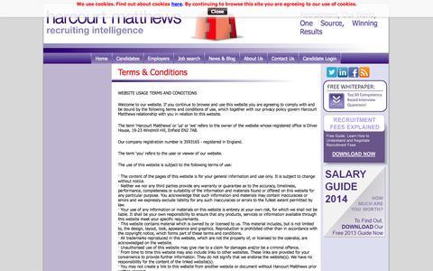 Screenshot of Terms Page harcourtmatthews.co.uk - Harcourt Matthews | Terms & Conditions - captured Oct. 10, 2014