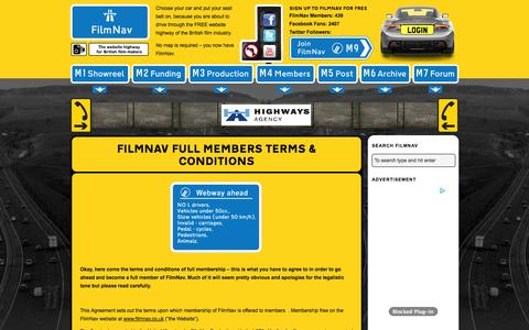 Screenshot of Terms Page filmnav.co.uk - Full Members Terms & Conditions | FilmNav - captured Nov. 5, 2014