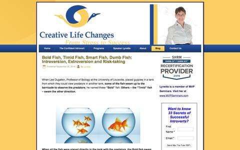 Screenshot of Blog creativelifechanges.com - Blog | Speaker and Coach for Introvert Confidence - captured May 23, 2017