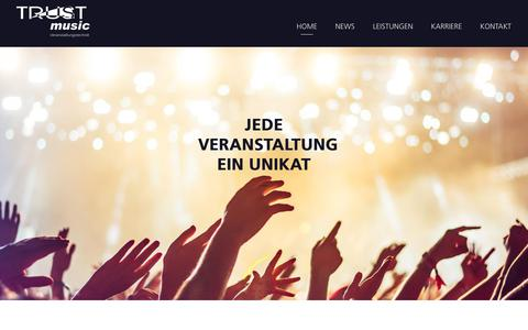 Screenshot of Home Page trustmusic-hamm.de - TRUSTmusic GmbH | Veranstaltungstechnik - captured Oct. 30, 2018