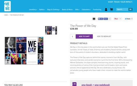 Screenshot of Products Page metowe.com - The Power of We Day - captured Oct. 29, 2014