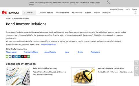 Bond Investor Relations - Huawei