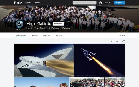 Screenshot of Flickr Page flickr.com - Virgin  Galactic | Flickr - Photo Sharing! - captured Oct. 1, 2015