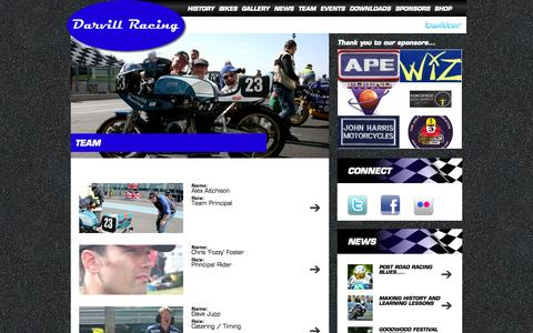 Screenshot of Team Page darvillracing.co.uk - Team - Darvill RacingDarvill Racing - captured Sept. 30, 2014