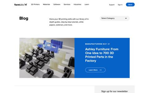 Screenshot of Blog formlabs.com - 3D Printing News, Interviews, and Tutorials | Formlabs - captured June 22, 2019