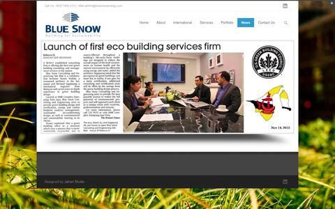 Screenshot of Press Page bluesnowenergy.com - bluesnowenergy.com - captured Oct. 5, 2014