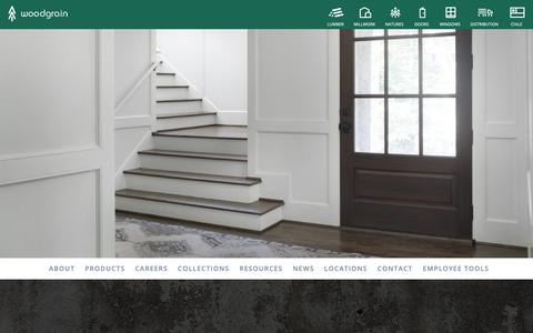 Screenshot of Press Page woodgrain.com - News - Woodgrain - captured May 30, 2019