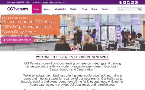 Screenshot of Home Page cctvenues.co.uk - CCT Venues London | Conference, Training & Event Venues - captured May 11, 2017