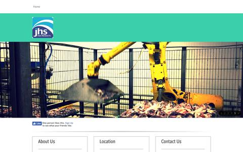 Screenshot of Home Page fishproducts.co.uk - JHS - Home - captured Oct. 1, 2018
