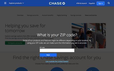 Savings Accounts | Savings | Chase.com