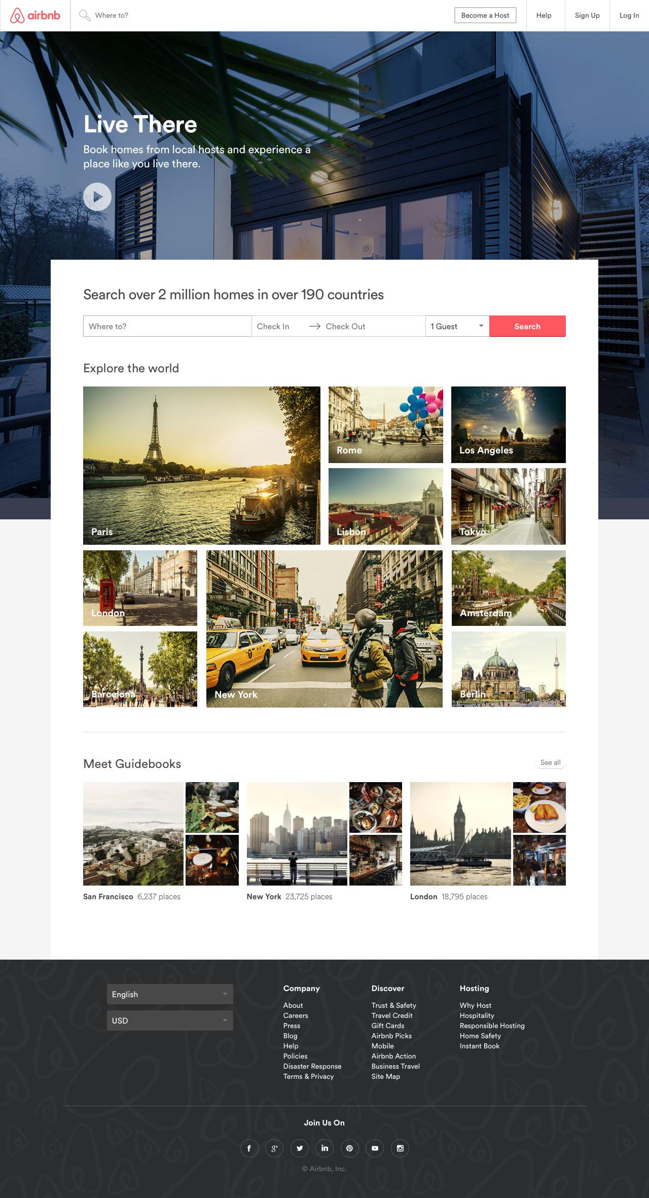 Screenshot of airbnb.com - Vacation Rentals, Homes, Apartments & Rooms for Rent - Airbnb - captured Oct. 4, 2016