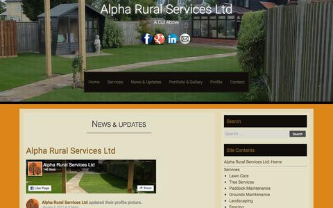 Screenshot of Press Page alpharuralservices.co.uk - News & Updates - Alpha Rural Services Ltd - captured July 29, 2018