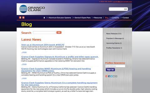 Screenshot of Blog grancoclark.com - Blog: Granco Clark - captured Oct. 3, 2014