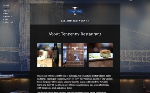 Screenshot of About Page tenpennynyc.com - About — Tenpenny - captured Nov. 2, 2014
