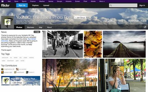 Screenshot of Flickr Page flickr.com - Flickr: The Your BC: The Tyee's Photo Pool Pool - captured Oct. 26, 2014