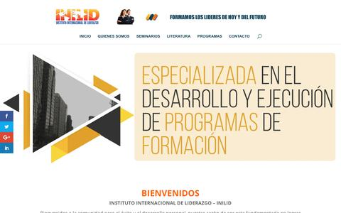 Screenshot of Home Page inilid.com - INILID | Instituto Internacional de Liderazgo - captured Oct. 4, 2017
