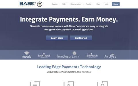 Screenshot of Home Page basecommerce.com - Base Commerce - captured Sept. 30, 2014