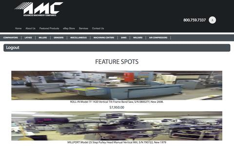 Screenshot of Login Page advancedmachinery.com - Logout - Advanced Machinery Companies Advanced Machinery Companies - captured Oct. 1, 2014