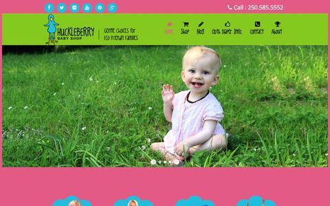 Screenshot of Home Page huckleberrybabyshop.com - Huckleberry Baby Shop - captured Sept. 30, 2014