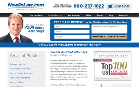 Florida Accident Attorneys - Dan Newlin - Recovered Millions