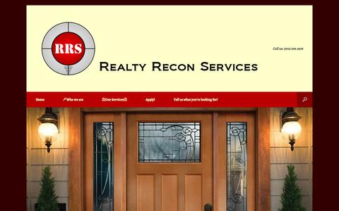 Screenshot of Home Page realrecon.com - Realty Recon Services | RealRecon.com - captured Oct. 1, 2014