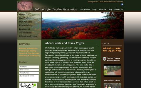 Screenshot of About Page voglerllc.com - Carrie and Frank Vogler | Land Management Team & Land Consultants - captured Oct. 27, 2014