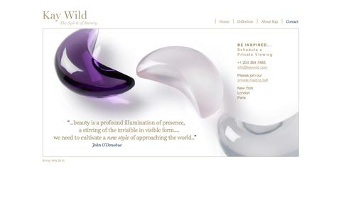 Screenshot of Contact Page kaywild.com - Schedule a Private Viewing | Kay Wild The Spirit of Beauty - captured Oct. 28, 2016