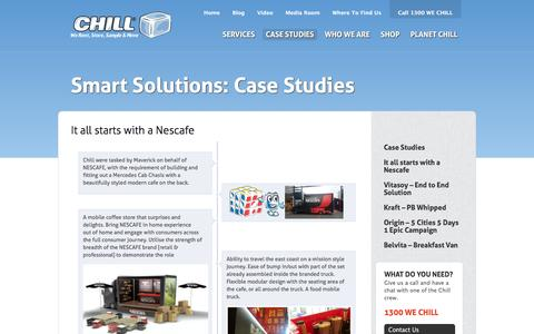 Screenshot of Case Studies Page chill.com.au - It all starts with a Nescafe |  Chill - captured Dec. 8, 2015